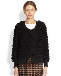 A Detacher | Black Fluffy Cardigan | Lyst