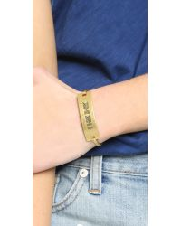 Madewell - Metallic Bam Bam Bracelet - Light Worn Gold - Lyst