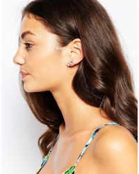 Oasis | Metallic Flower And Crystal Ear Cuff Adornment Pack | Lyst