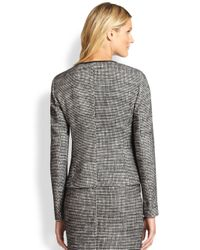 BOSS - Black Koralia Tweed Jacket - Lyst