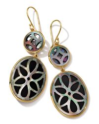 Ippolita | Metallic 18K Gold Polished Rock Candy Carved 2-Layer Medium Snowman Earrings | Lyst