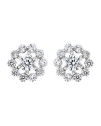 Carat* - Metallic Flora Stud Earrings - Lyst