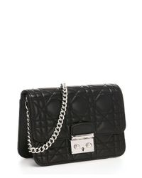 Dior - Black Cannage Quilted Leather 'miss Dior' Convertible Shoulder Bag - Lyst