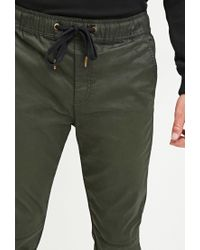 Forever 21 - Green Coated Chino Joggers for Men - Lyst
