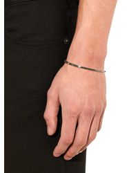 Saint Laurent - Metallic Armure Fil Sterling-Silver Bangle for Men - Lyst