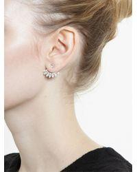 Yvonne Léon - 18kt White Gold and Diamond Lobe Earring - Lyst