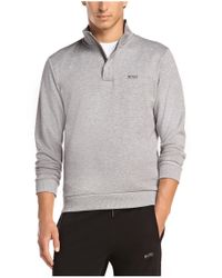BOSS Green - Gray Sweatshirt: 'sweat' In Cotton Blend for Men - Lyst