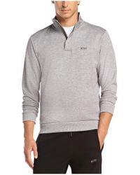 BOSS Green | Gray Sweatshirt: 'sweat' In Cotton Blend for Men | Lyst