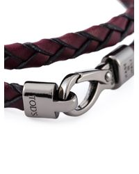 Tod's - Red 'my Colours' Bracelet for Men - Lyst