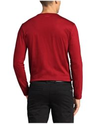 BOSS Green - Red Long-sleeve Top 'togn 1' In Cotton for Men - Lyst