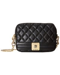 Love Moschino | Black Quilted Square Crossbody Bag | Lyst