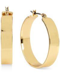 Kenneth Cole - Metallic Gold-tone Wide Hoop Earrings - Lyst