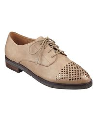 Nine West | Natural Keaton Lace-up Oxfords | Lyst