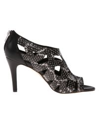 Calvin Klein | Black Pianna Leather Open-toe Sandals | Lyst