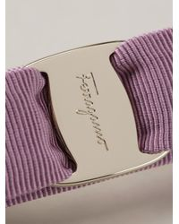 Ferragamo - Purple 'Vara' Bow Hairclip - Lyst