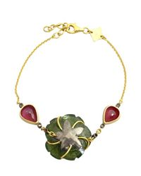 Amrapali | Multicolor Tourmaline And Ruby Chain Bracelet | Lyst