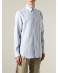 Ferragamo - Blue Button Down Shirt for Men - Lyst