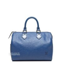 Louis Vuitton - Pre Owned Toledo Blue Epi Leather Speedy 25 Bag - Lyst