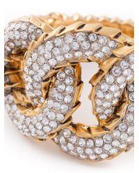 Giuseppe Zanotti - Metallic Oversized Link Bracelet - Lyst