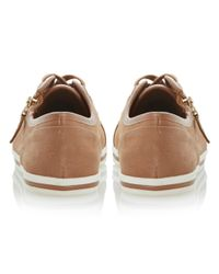 Dune | Brown Landscaped Lace Up with Side Zip Trainers | Lyst