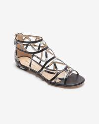 Alexandre Birman - Black Flat Cage Zip Heel Sandal - Lyst