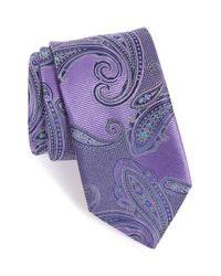 John W. Nordstrom   Purple John W. Nordstrom Paisley Silk Tie for Men   Lyst