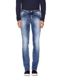 Dondup - Blue Denim Trousers for Men - Lyst