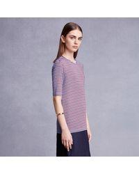 Trademark   Red Static Stripe T-shirt   Lyst