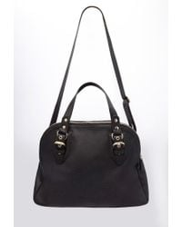 Forever 21 - Black Faux Leather Satchel - Lyst