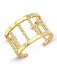 Vita Fede | Metallic 24k Gold-dipped Pandora Cuff Bracelet W/ Crystals | Lyst