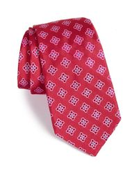 Ike Behar | Pink 'floral Platform Neat' Silk Tie for Men | Lyst