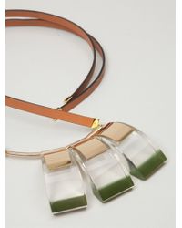 Marni - Brown Geometric Necklace - Lyst