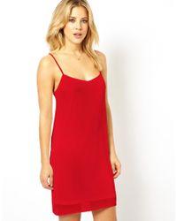 ASOS | Red Cami Slip Dress | Lyst