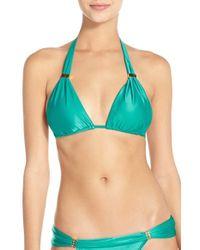 ViX Green 'bia' Traingle Bikini Top