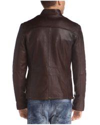 BOSS Orange | Brown Sheepskin Leather Jacket 'jerian' for Men | Lyst