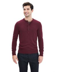 Banana Republic | Red Extra-fine Merino Wool Henley Sweater Pullover for Men | Lyst