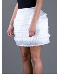 Meadham Kirchhoff | White Lola Panier Skirt | Lyst
