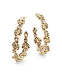 Alexis Bittar | Metallic Miss Havisham Oscillating Crystal Hoop Earrings | Lyst