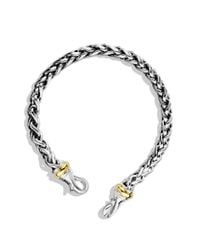 David Yurman | Metallic Medium Wheat Chain Bracelet with Gold | Lyst