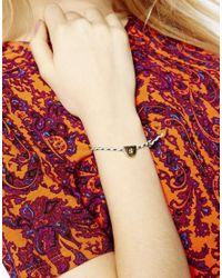 ASOS - Metallic S Friendship Bracelet - Lyst