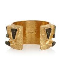 Vionnet - Metallic Gold-Plated Resin Cuff - Lyst