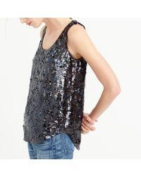J.Crew | Green Collection Sequin Stars Tank Top | Lyst