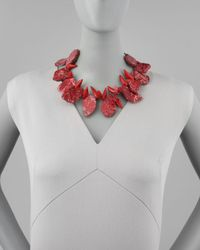 Devon Leigh | Red Howlite & Coral Necklace | Lyst