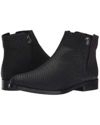 Armani Jeans | Black Lizzard Printed Bootie | Lyst