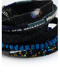 Hipanema - Blue Stacked Bangle Bracelet - Lyst