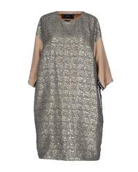 By Malene Birger - Gray Knee-length Dress - Lyst