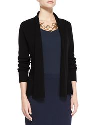 Eileen Fisher   Black Peplum Cotton and Silk-Blend Jacket   Lyst