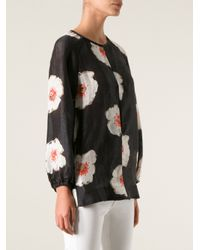 Étoile Isabel Marant | Black Floral Print Blouse | Lyst