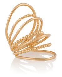 Arme De L'Amour - Metallic Gold-Plated Multi-Sphere Ring - Lyst