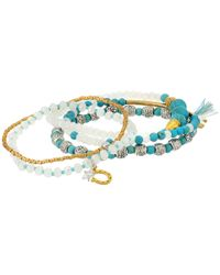Chan Luu - Blue Stackable Bracelets - Lyst